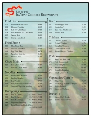 Menu in English