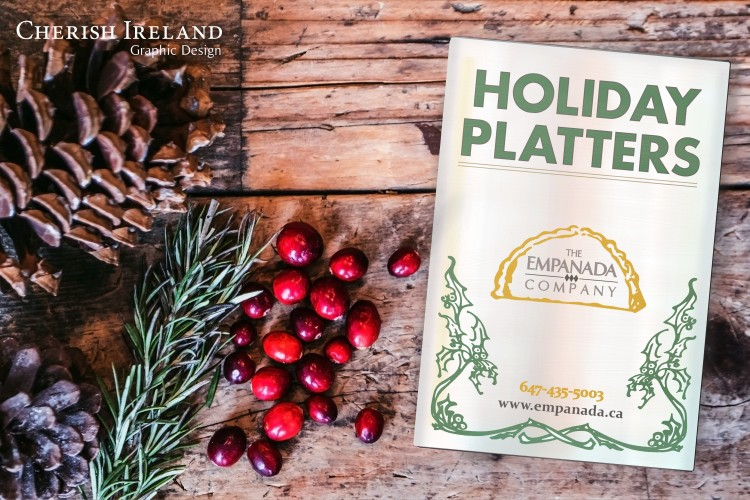 holiday flyer front mockup